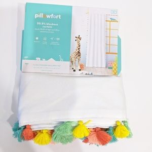 NWT Pillowfort Tassel Children's Colorful Curtain
